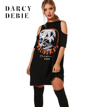 Darcydebie Plus Size Hollow Out Dress Women Solid Black Printed Short  Sleeve Female Clothing Sexy Lady 6e65480aa887