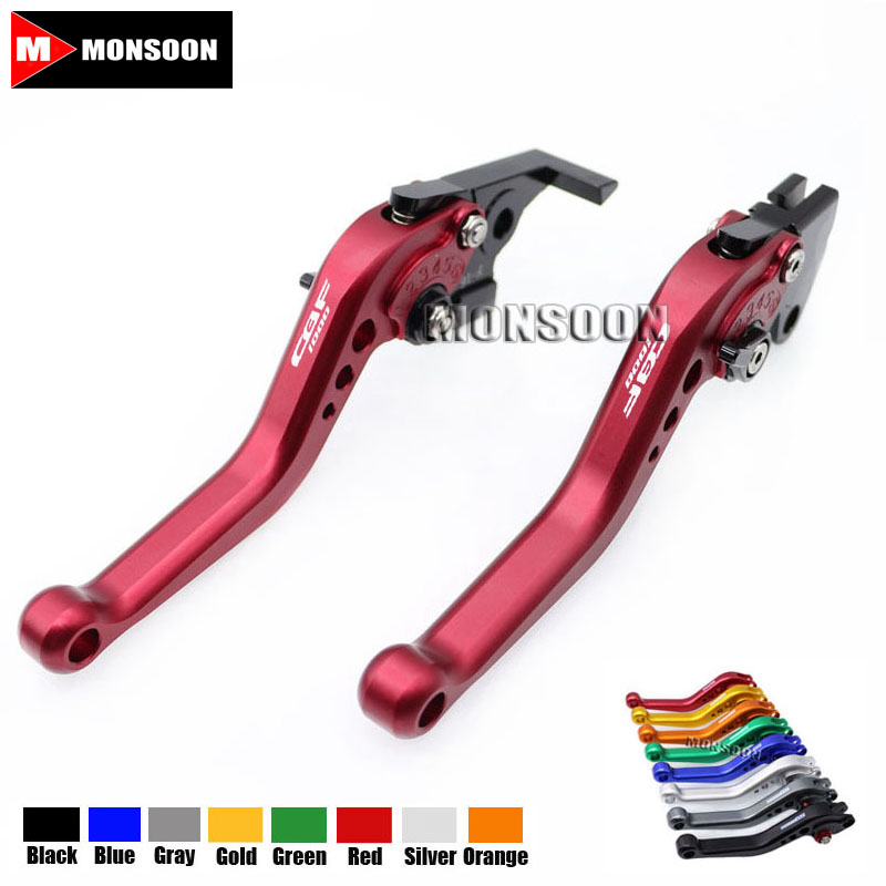 LOGO CBF1000  For HONDA CBF1000 CBF 1000 2006-2009 2007 2008 Motorcycle Accessories Aluminum short Brake Clutch Levers Red aftermarket free shipping motorcycle parts eliminator tidy tail for 2006 2007 2008 fz6 fazer 2007 2008b lack