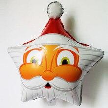 2015 10pcs/lot new fashion star Christmas foil balloons wholesale globos father xmas party decoration birthday supplies