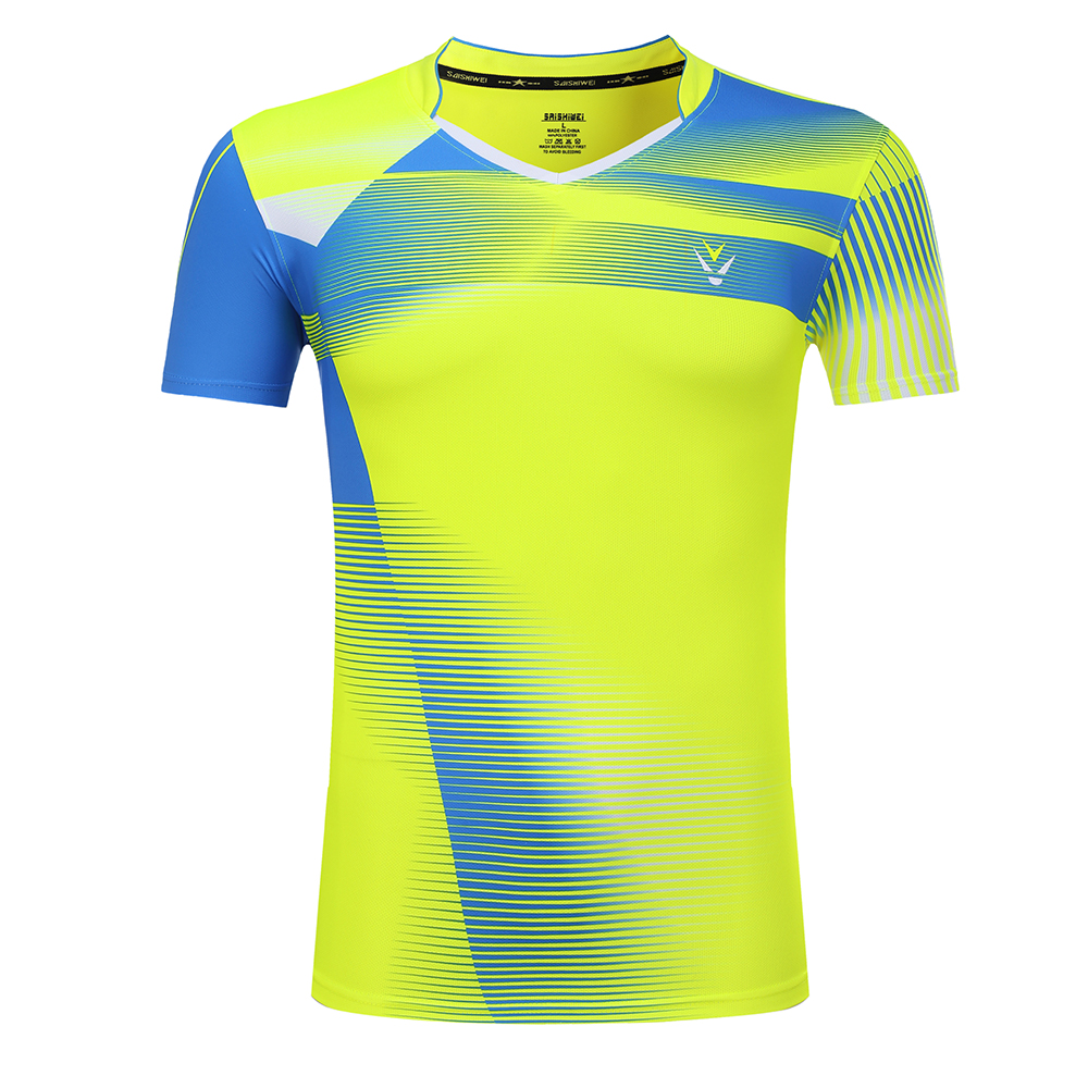 Free Print Badminton Quick dry sports shirt , Tennis t shirt Male/Female , Tennis shirts ,Table Tennis t shirt 3867AB