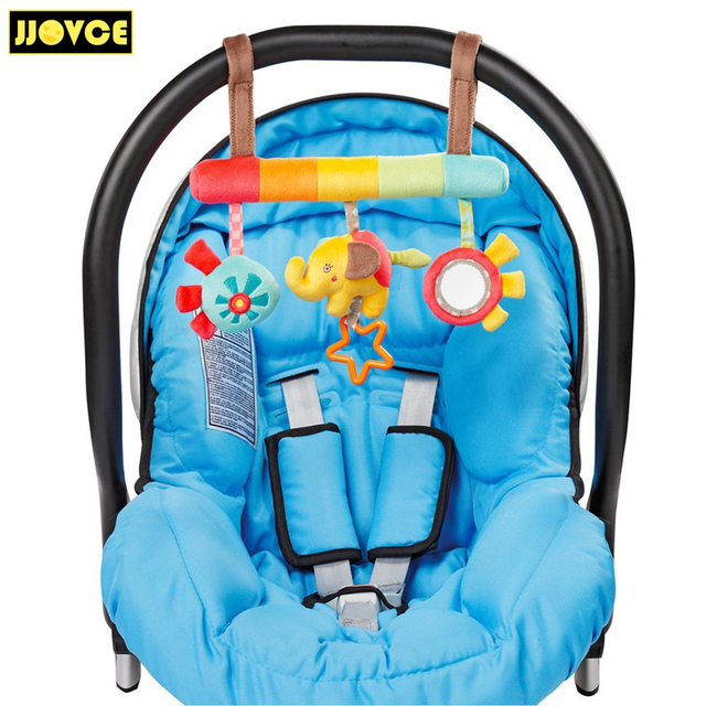 jjovce baby car safety seats hanging toys boys girls soft plush elephant baby sensory. Black Bedroom Furniture Sets. Home Design Ideas
