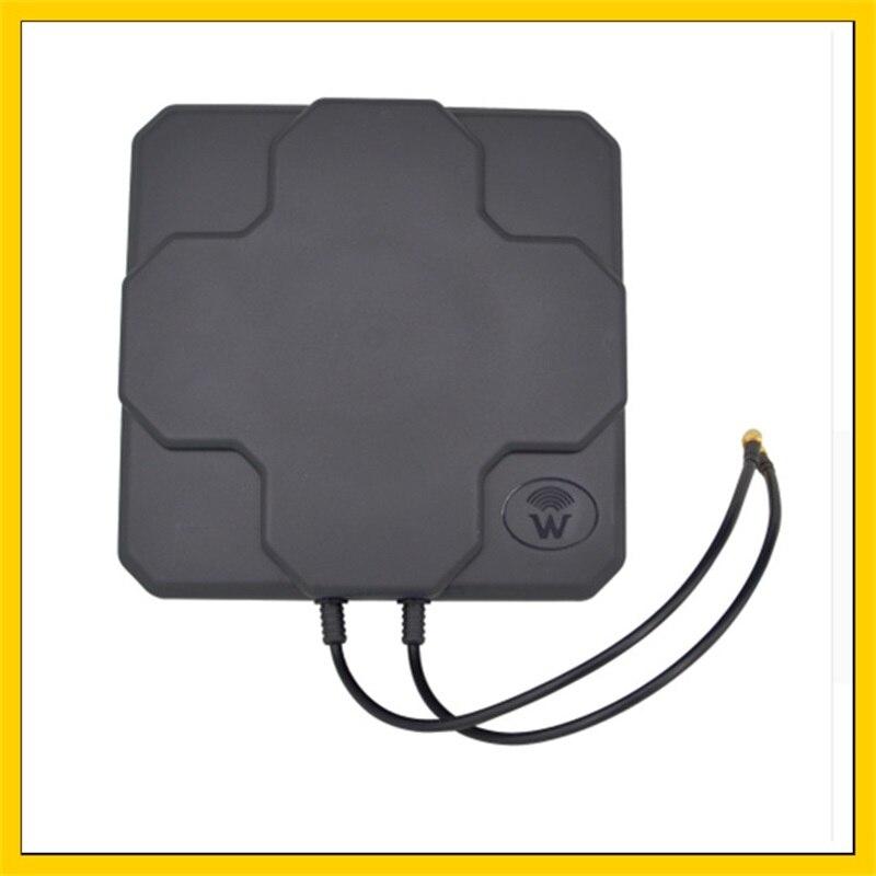 2 * 22DBI LTE antenne MIMO extérieure 4G double panneau de polarisation antenne SMA connecteur mâle (blanc ou noir) câble 20 cm
