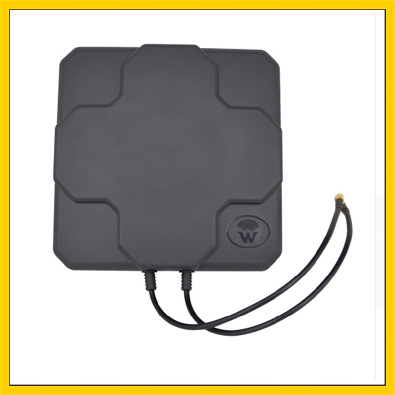 2*22DBI LTE outdoor  MIMO antenna 4G dual polarization panel antenna SMA male  connector (white or black) 20cm cable2*22DBI LTE outdoor  MIMO antenna 4G dual polarization panel antenna SMA male  connector (white or black) 20cm cable