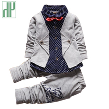 Toddler boy clothes Gentleman boutique kids clothes shirt+pants and bow party girls fall children clothing outfits 2pcs/set недорого
