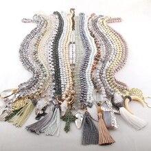 Модное разноцветное ожерелье ручной работы женские ювелирные изделия 20 шт микс