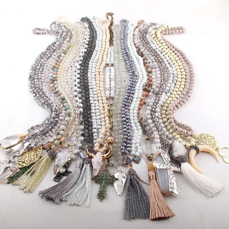 卸売ファッションミックスカラー Whiet ネックレス女性ジュエリー 20 pc ミックス  グループ上の ジュエリー & アクセサリー からの ペンダントネックレス の中 1