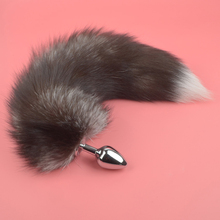 Sex Toys 3 Sizes Fox Fur Tail Anal  Stainless Steel Butt Plug Cosplay For Couple Games Erotic Accessories