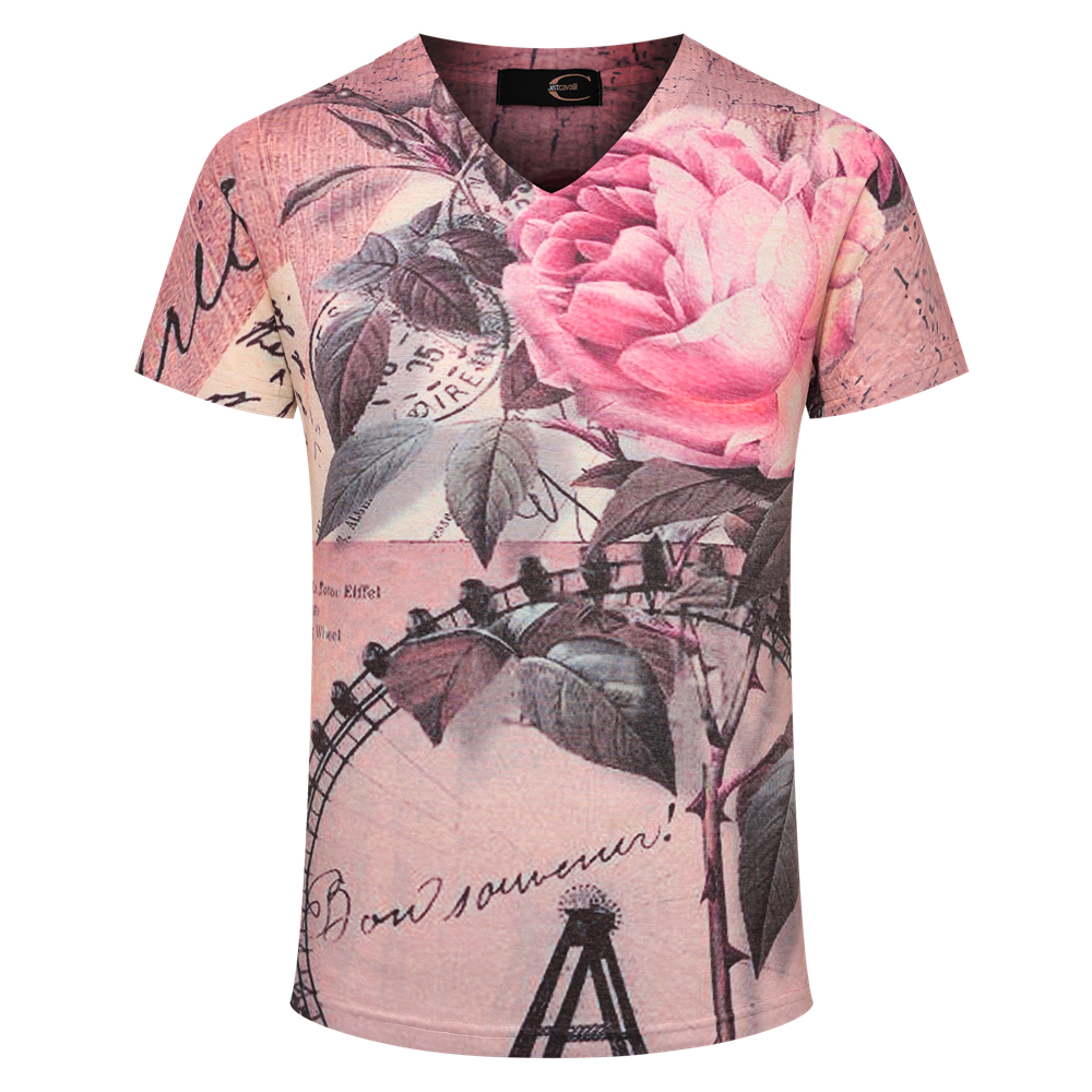 2018 Fashion T Shirts For Men Printing Ftp Designs T: Mens Floral T Shirt 2017 Flower Printed Men's Shirts Brand