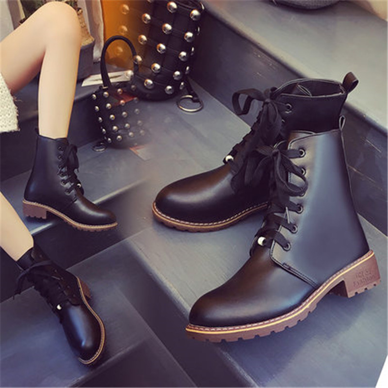 2019 Hot New Autumn Early Winter Shoes Women Flat Heel Boots Fashion Keep warm Women's Boots Brand Woman Ankle Botas Camouflage 2