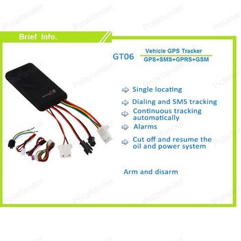 GT06 Car GPS Tracker SMS GSM GPRS Vehicle Tracking Device Remote Control Monitor Locator for Motorcycle Scooter Without Box image