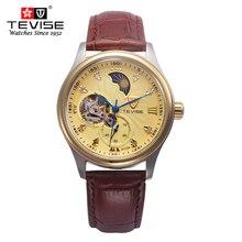 Классическая Мода Часы Мужчины luxury brand Tourbillon Механические часы Мужчины Повседневная часы Кожа Часы Reloj montre homme