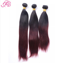 6A Ombre Brazilian Hair Weave Bundles Burgundy brazilian hair blonde Brazilian Virgin Hair Red Brazilian Ombre Hair Extensions