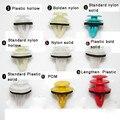 18 UNIDS Universal de Nylon Auto Puerta Panel de Moldura De Plástico Sujetadores Con Remache Cojín de Fijación Clip Auto Sujetadores de Plástico Para Los Coches