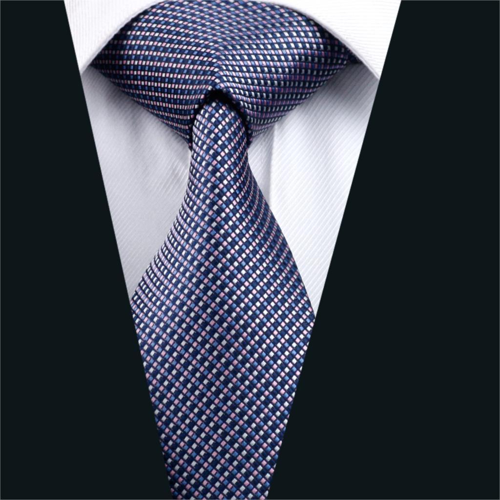 DH 660 Mens Silk Tie Multi Color Plaid NeckTie 100% Silk ...