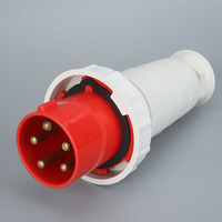 5P 125A Industrial plug socket connector 3 core 4 core 5 hole surface mounted aviation plug docking waterproof