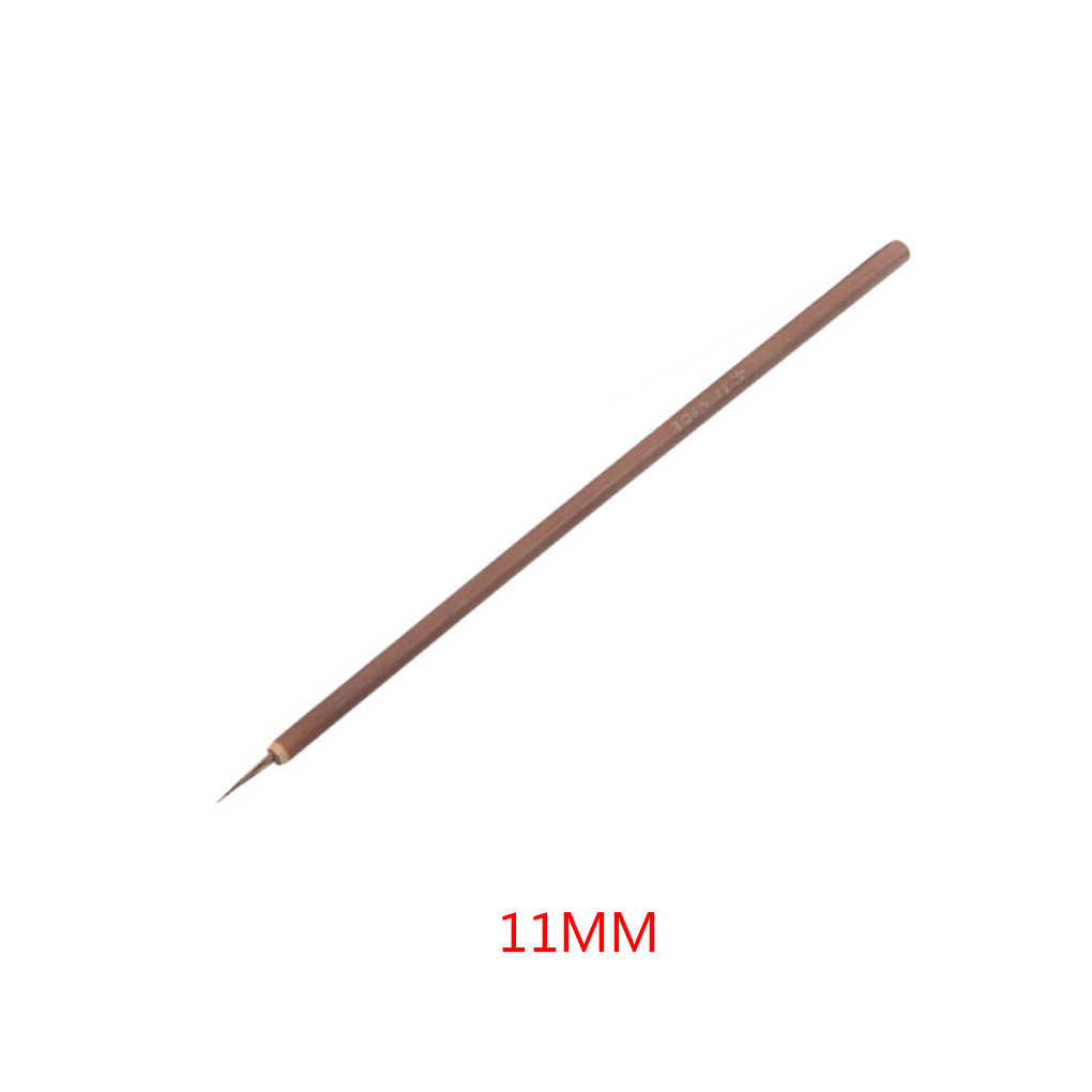 1PC 4/6/8/11mm New Small Nail Brush Bamboo Handle Nail Art Painting Brushes Nail Liner Brush DIY Manicure Nail Tools