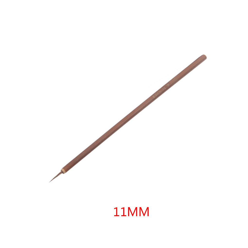 1PC 4/6/8/11mm New Small Nail Brush Bamboo Handle Nail Art Painting Brushes Nail Liner Brush DIY Manicure Nail Tools купить в Москве 2019