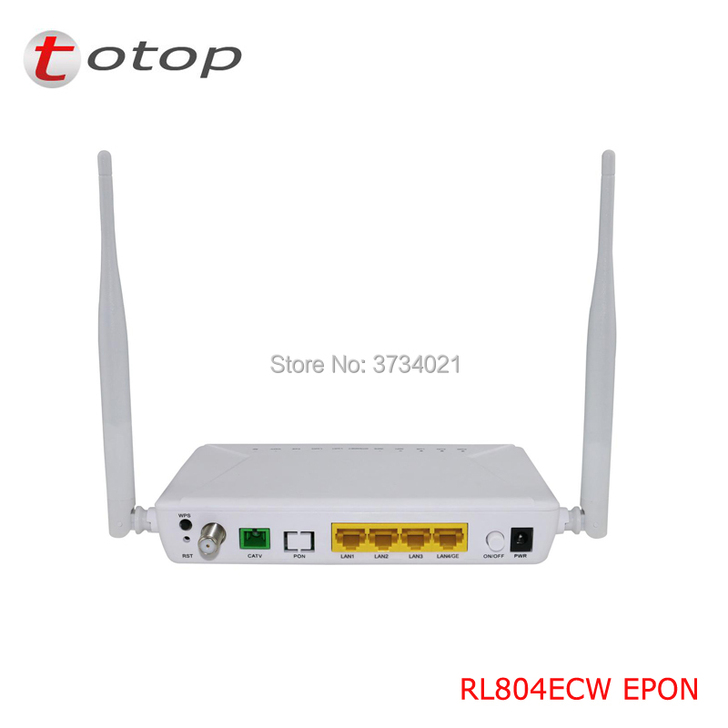 Customized EPON ONU ONT RL804ECW With 1GE 3FE 1CATV WIFI Single Fiber For Fiber Optic Network
