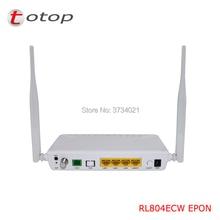 Индивидуальные EPON с оптическим сетевым блоком и оптическим сетевым окончанием RL804ECW с 1GE + 3FE + 1 CATV + wifi одиночное волокно для оптоволоконного сетевого маршрутизатора