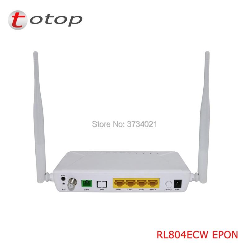 Fibre unique adaptée aux besoins du client d'epon ONU ONT RL804ECW avec 1GE + 3FE + 1CATV + WIFI pour le routeur de réseau de Fiber optique