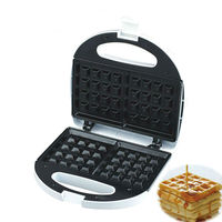 DSP Kitchen Cooking Appliances Square Shaped Waffle Maker Non Stick Electric Baking Dish Machine 750W