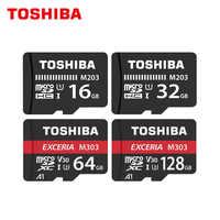 TOSHIBA Micro SD Card Class10 M203 16GB 32GB Original Memory Card M303 64GB 128GB TF Card Up to 98MB/s Flash Card for Phone