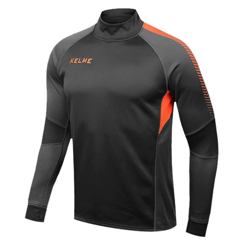 Kelme K089 hombres manga larga pulgar hebilla formación luz Junta equipo  Sportswear fútbol Jersey gris hierro abac30cef4fe0