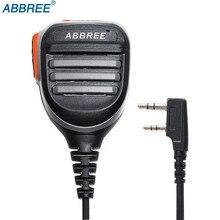ABBREE yağmur geçirmez PTT omuz hoparlör mikrofon Baofeng dijital telsiz DM 860 DM 1701 DM X DMR iki yönlü telsiz