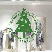 Kartkę z życzeniami Boże Narodzenie Drzewo Naklejki Ścienne Dla Sklepu Okno Szklane Drzwi Dekoracji Domu Naklejki Ścienne Sztuki Plakat Dekoracje Świąteczne
