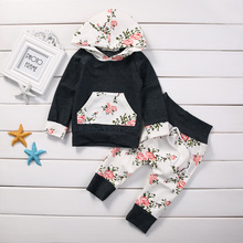 Hooded Tops+Long Pant 2pcs Outfit Set