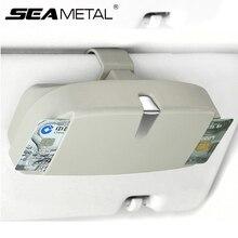 Автомобильный футляр для очков Органайзер коробка солнцезащитные очки держатель для хранения козырек от солнца зажим для хранения