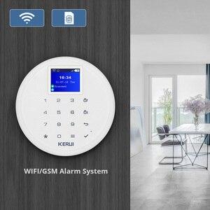 Image 2 - Yeni KERUI W17 TR RU ES DE BU FR ile Değiştirilebilir GSM Wifi Alarm Sistemi Anti Pet PIR sensör dedektörü dostu ile Pet Köpek Ve Kedi