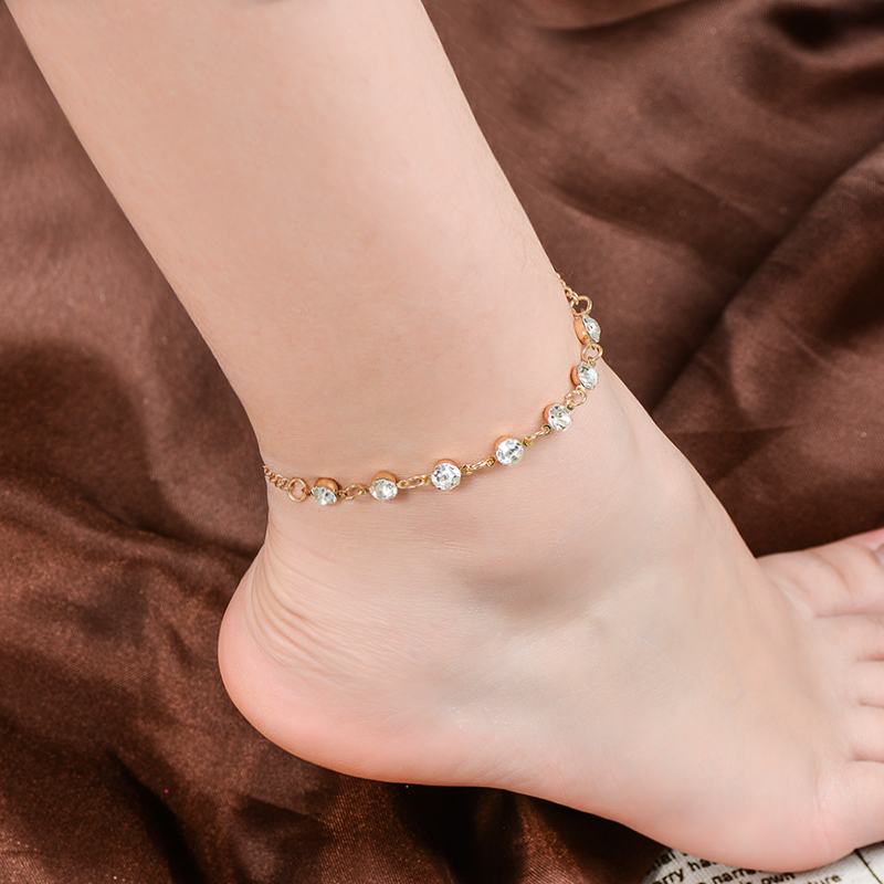 H:HYDE Fine Sexy Pendant Anklet For Woman Boho Geometric Ankle Bracelet Charm Bohemian Anklets Jewelry Summer Beach Party Gift