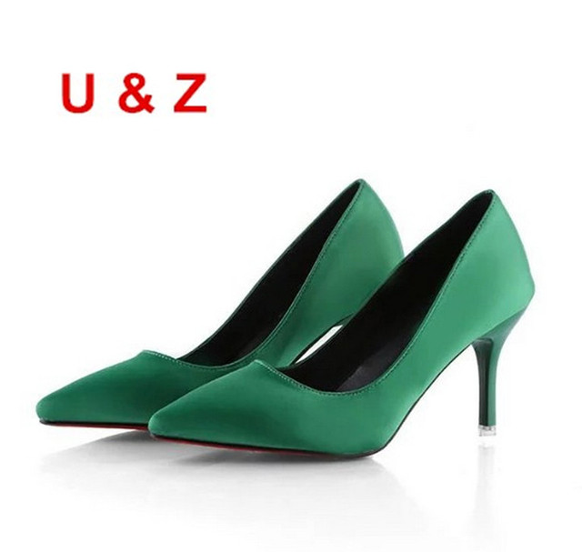 cfe10cb47b6 Spring Summer New silk satin wedding shoes 40mm kitten heels