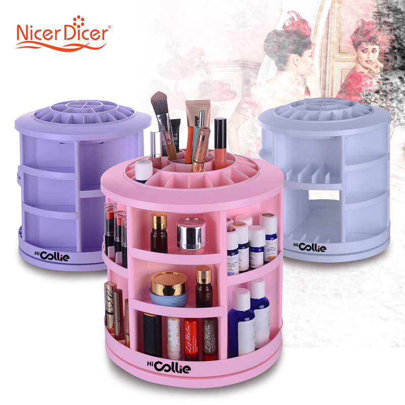 HiCollie Tabletop Big Capacity 360 Rotating Cosmetic Storage/Revolving Makeup  Organizer Carousel White Sturdy Stylish In Storage Boxes U0026 Bins From Home  ...