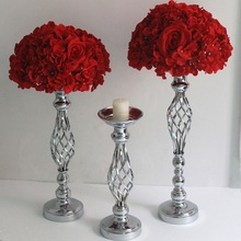 Vases Candle-Holders Centerpiece Flowers Metal-Stand Road-Lead-Table Wedding Gold/silver