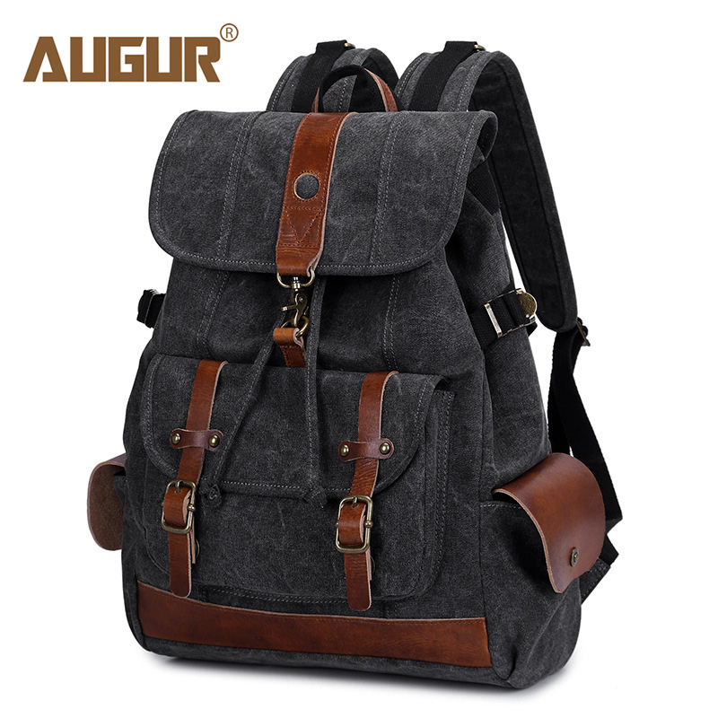 AUGUR 2018 Backpack Male Fashion Women's Backpacks Canvas College School Student Backpack Travel Bags Causal Rucksacks Women Bag augur fashion men backpack canvas travel laptop bag teenagers student school bags rucksacks famale backpacks