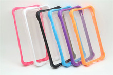 Dual color clear Back Soft frame Cover Silicone Plastic Case for iPhone 6 6S 4 7