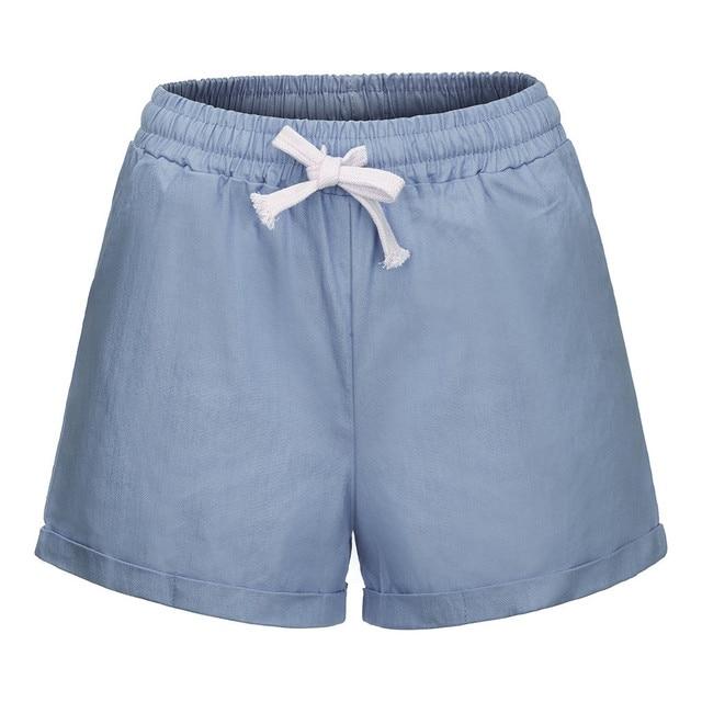Plus Size Pocket Shorts women Summer 2019 Streetwear Casual Drawstring Running Gym Sports summer shorts Women short feminino 5