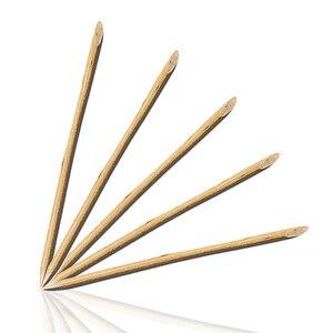 10Pcs Orange Wood Sticks For N