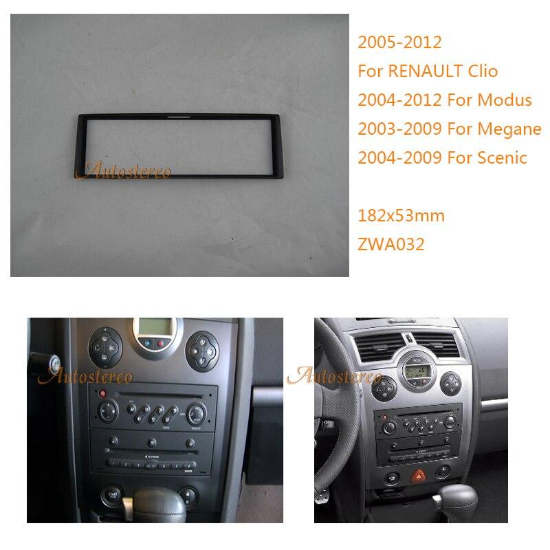 Car Radio Fascia For Renault Clio Modus Megane Scenic Stereo Fascia Dash Cd Trim Installation