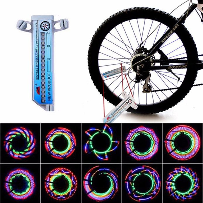 Hot Selling 16 LED Car Motorcycle Cycling Bike Bicycle Tire Wheel Valve Flashing Spoke Light Bike Accessories Wholesale