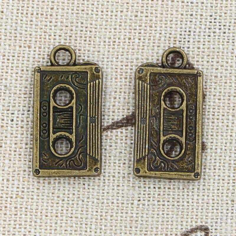5 шт. Подвески Ретро 80's Кассетная лента 23x12 мм антикварная изготовление кулон подходит, винтажное тибетское серебро, DIY браслет ожерелье