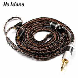 Free Shipping Haldane MMCX 16 Cores Replacement Upgraded Silver Plated Headpone Cable for SE846 SE535 SE315 UE900 Headpones
