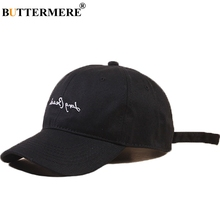 купить BUTTERMERE Women Baseball Cap Cotton Letter Hat Men Embroidery Black Fashion Hip Hop Snapback Hats Breathable Summer Sun Caps дешево