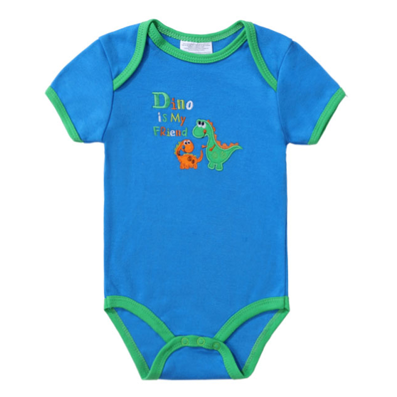 2018 Fashion Baby Romper Short Sleeves 100% Cotton Baby Pajamas Animal Cartoon Printed Newborn Baby Girls Boys Clothes Rompers
