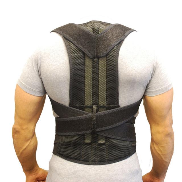 Respaldo ajustable Aofeite Magnética Corrector de Postura Brace Cinturón Band Negro