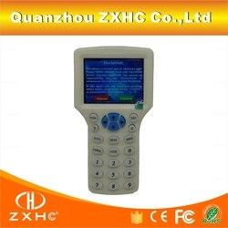 الإنجليزية اللغة RFID قارئ الكاتب ناسخة الناسخ IC/ID 10 تردد مع كابل يو اس بي ل 125 Khz 13.56 Mhz بطاقات LCD شاشة