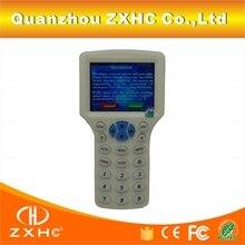 Английский Язык RFID Считыватель Писатель Копир Дубликатор IC/ID 10 Частоты С Usb-кабель Для 125 КГц 13.56 МГц карты ЖК-Экран