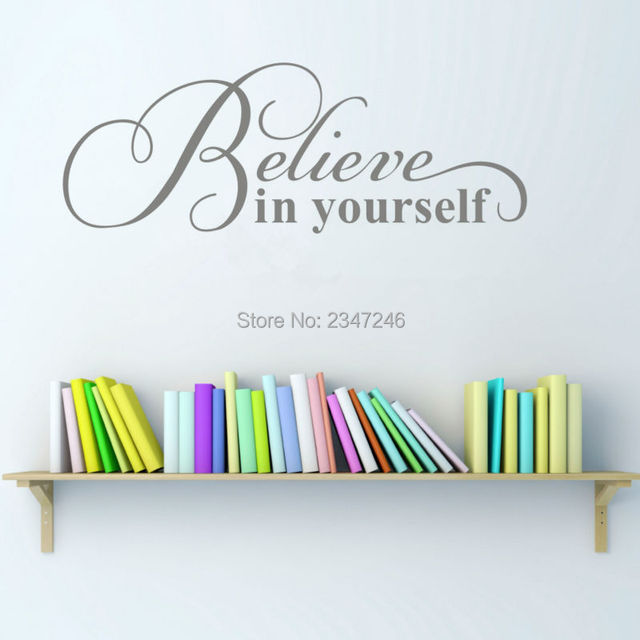 home decor quotes. Inspirational Quotes Believe In Yourself Wall Sticker Encouraging Sentence Home  Decor Vinyl Art Removable